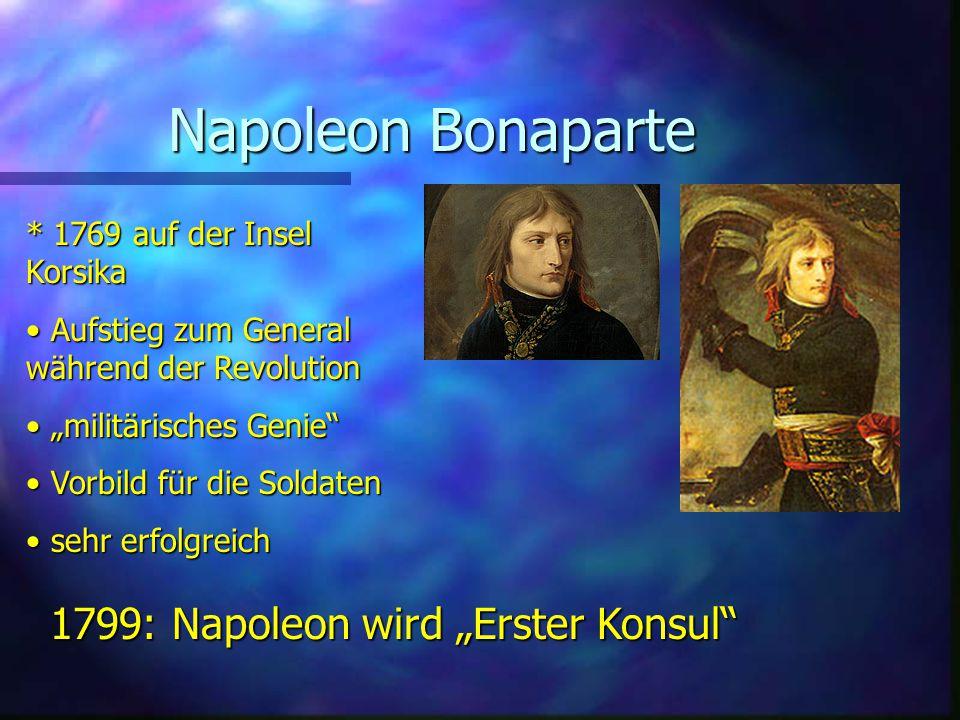 "Napoleon Bonaparte 1799: Napoleon wird ""Erster Konsul"