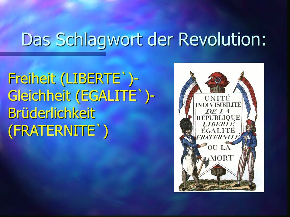 Das Schlagwort der Revolution: