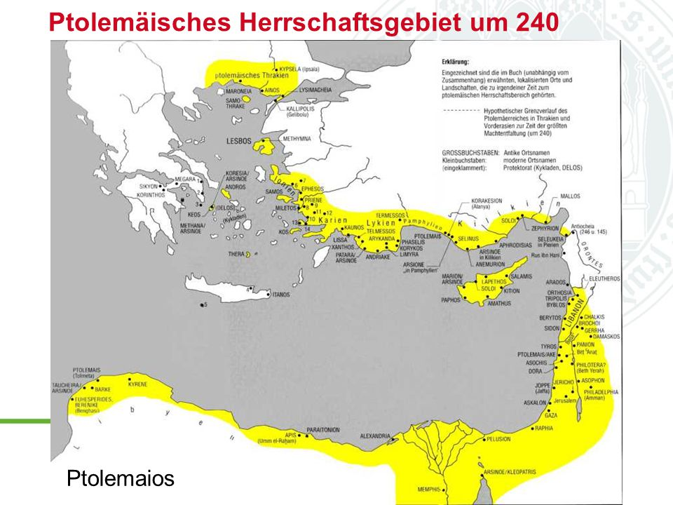 Ptolemäisches Herrschaftsgebiet um 240