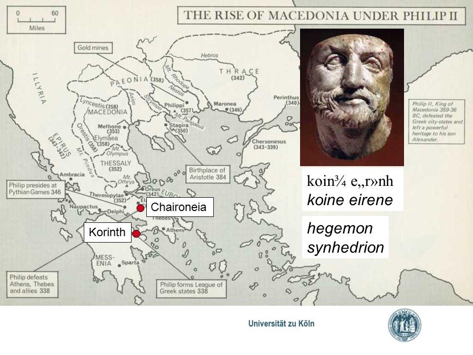 "koin¾ e""r»nh koine eirene Chaironeia hegemon synhedrion Korinth"