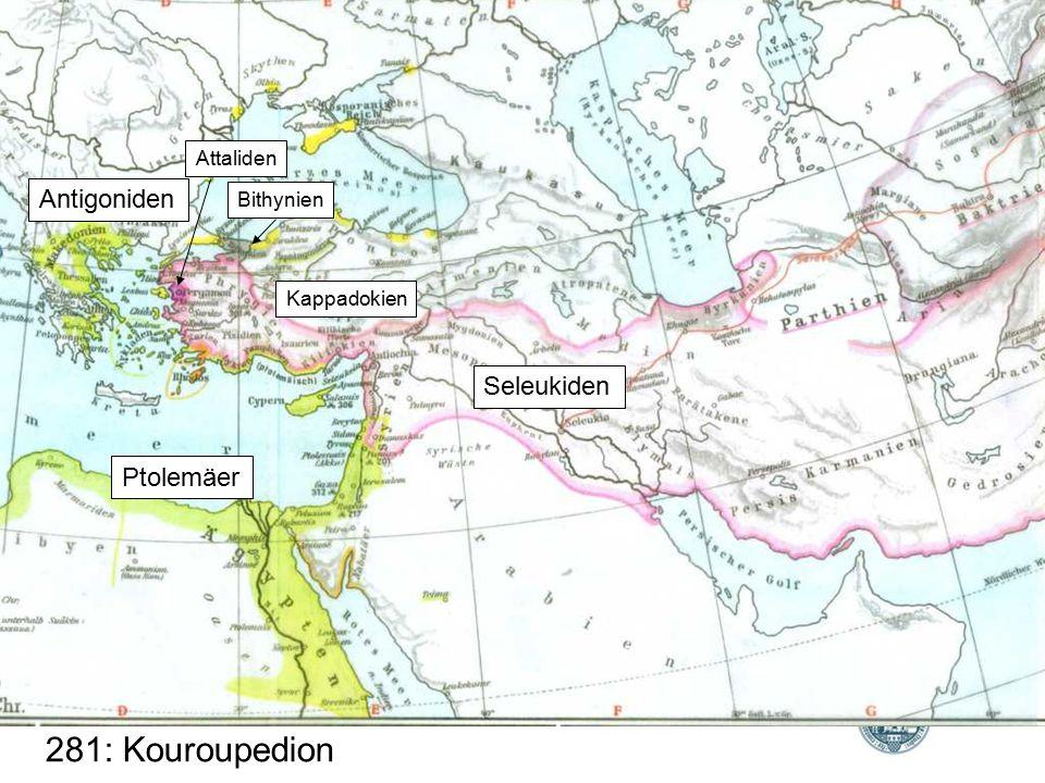281: Kouroupedion Antigoniden Seleukiden Ptolemäer Attaliden Bithynien