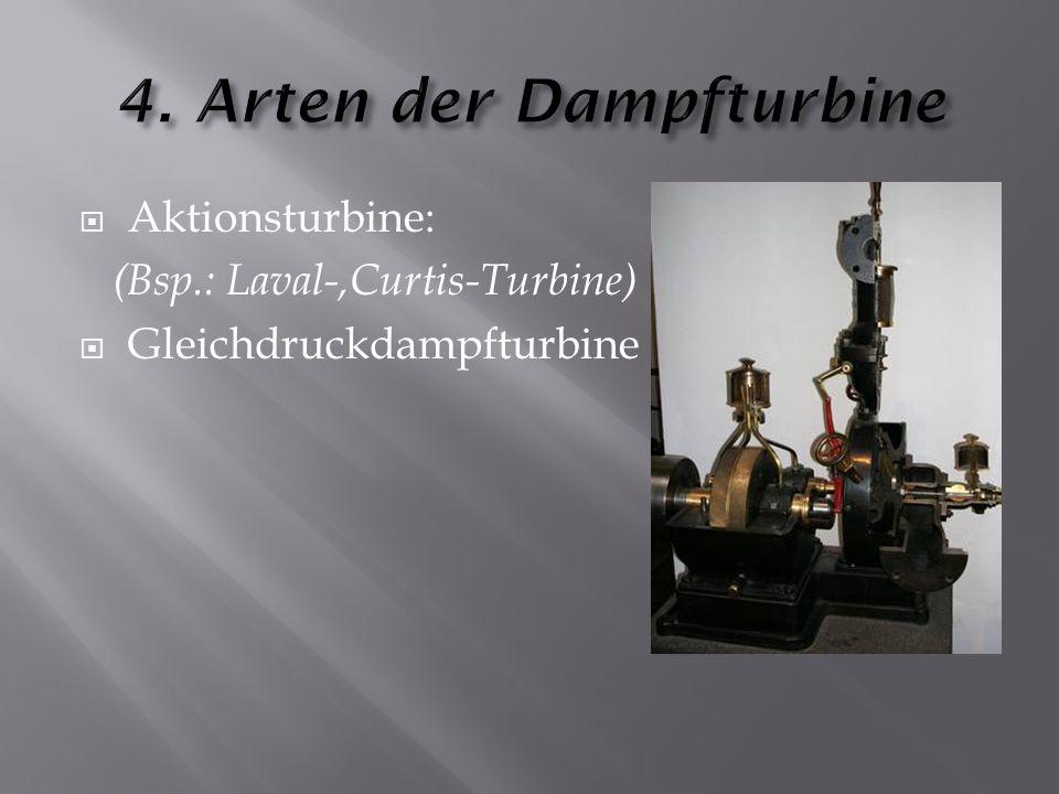 4. Arten der Dampfturbine