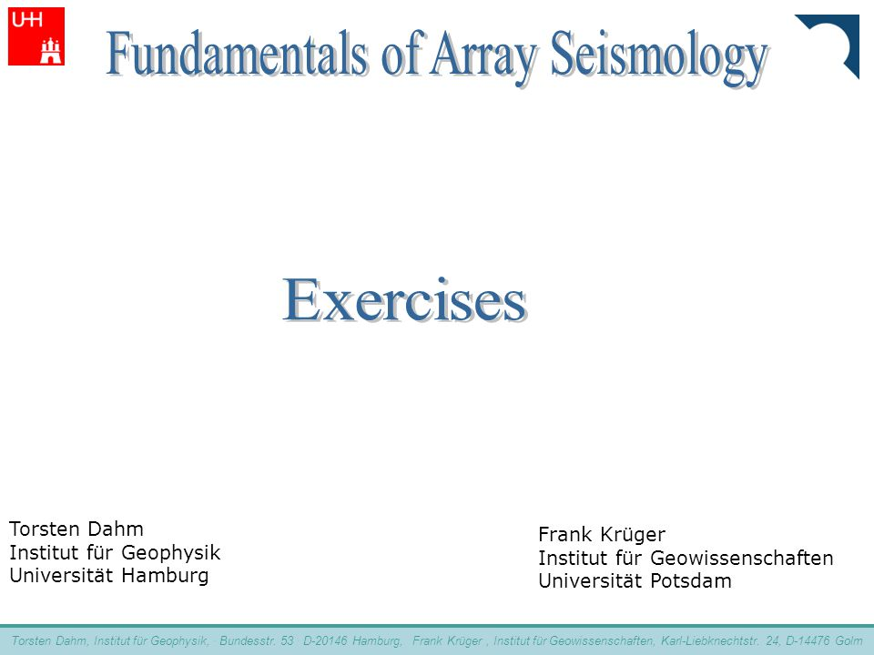 Fundamentals of Array Seismology