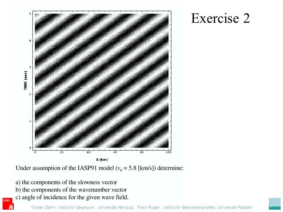 Exercise 2 Torsten Dahm, Institut für Geophysik, .