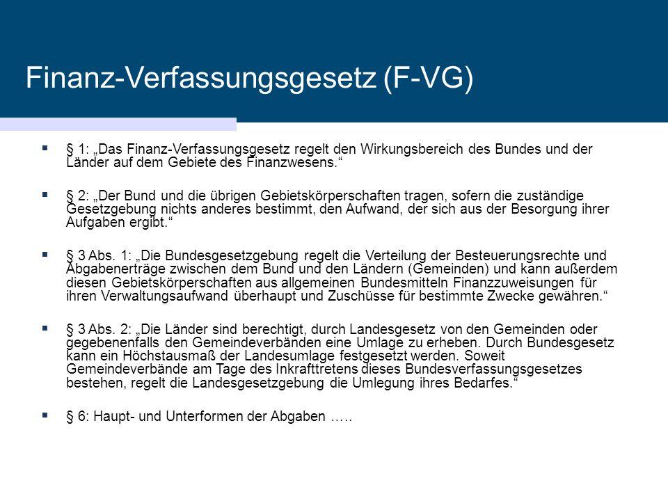Finanz-Verfassungsgesetz (F-VG)