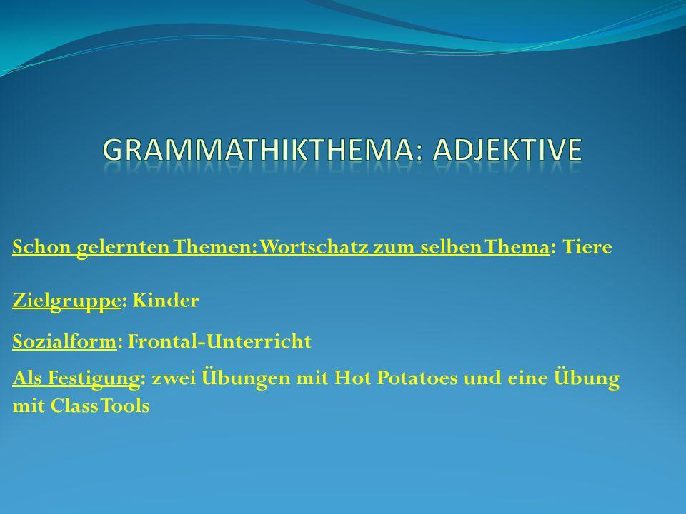 Grammathikthema: Adjektive