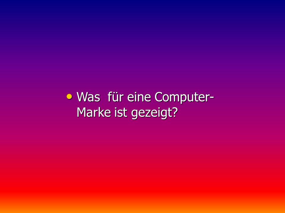 Was für eine Computer- Marke ist gezeigt