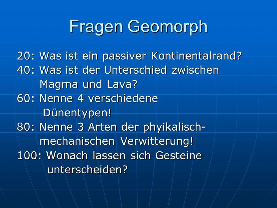 Fragen Geomorph 20: Was ist ein passiver Kontinentalrand