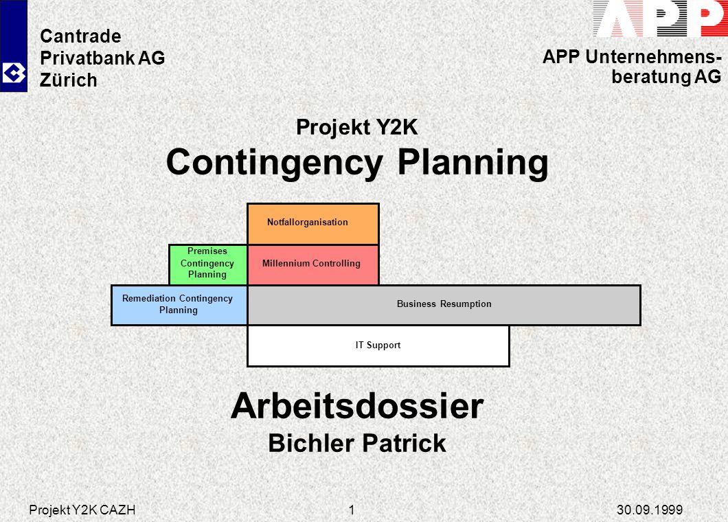 Contingency Planning Arbeitsdossier