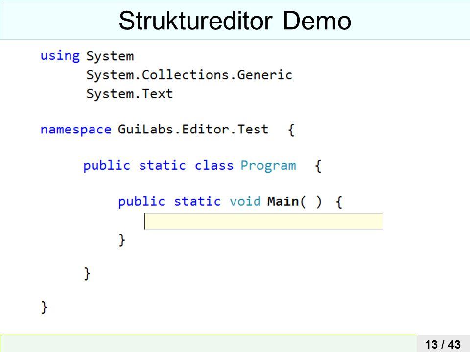 Struktureditor Demo