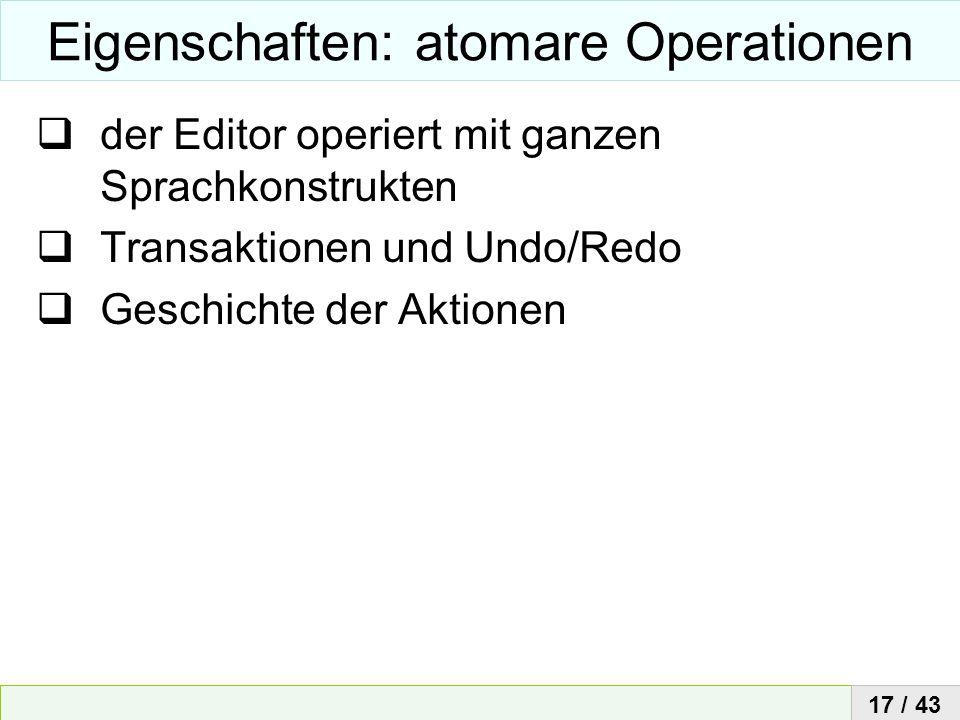 Eigenschaften: atomare Operationen