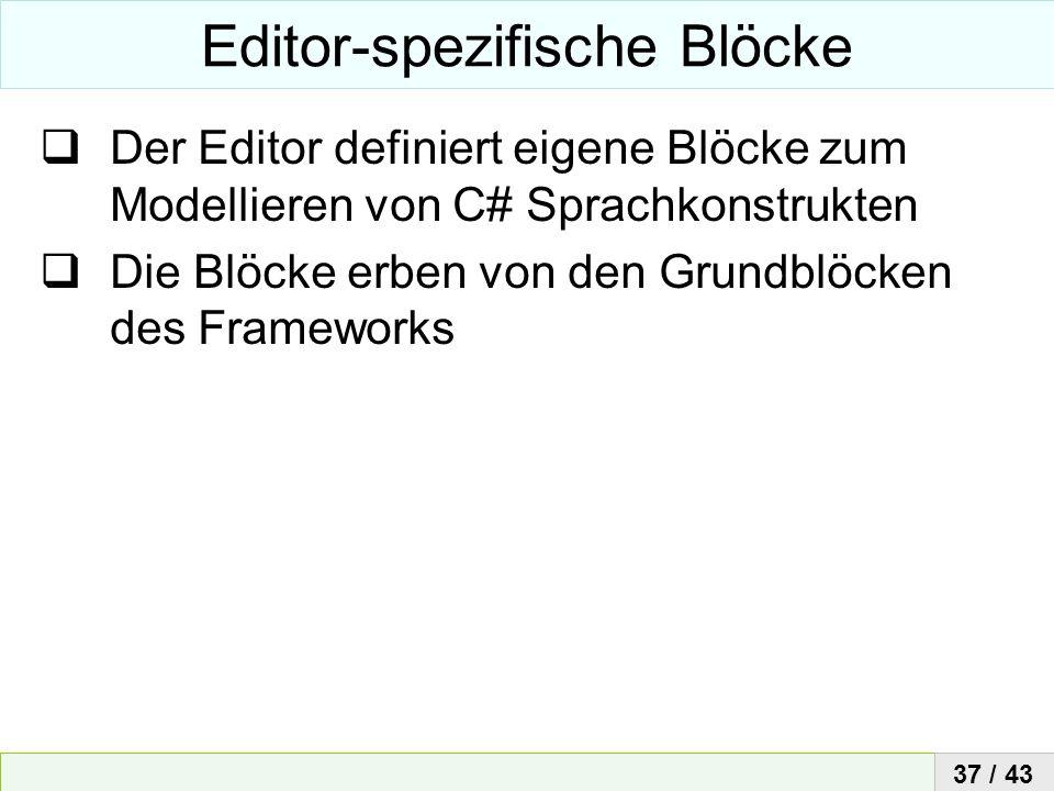Editor-spezifische Blöcke