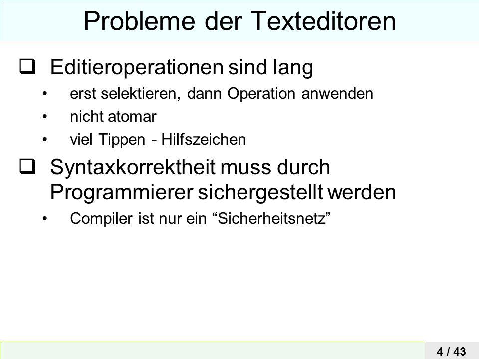 Probleme der Texteditoren