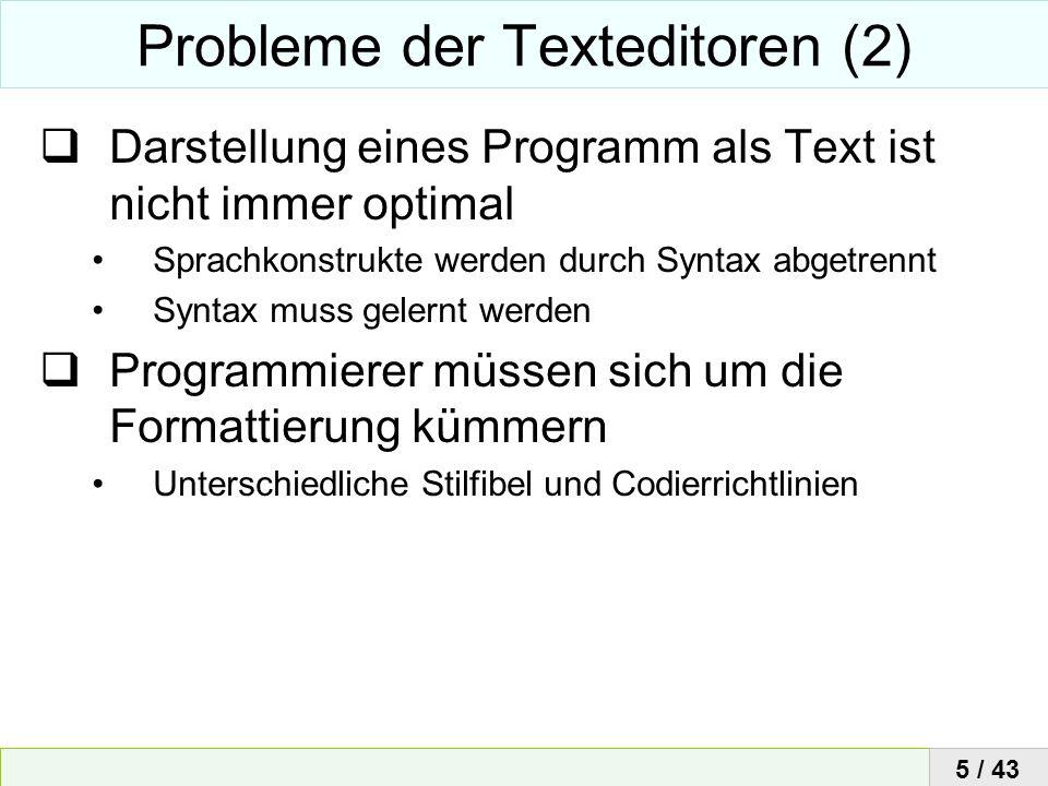 Probleme der Texteditoren (2)