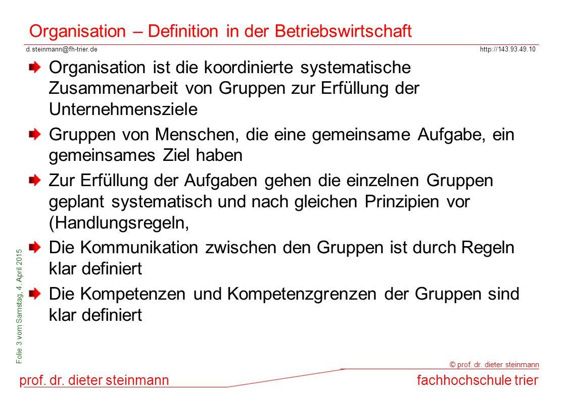 Organisation – Definition in der Betriebswirtschaft