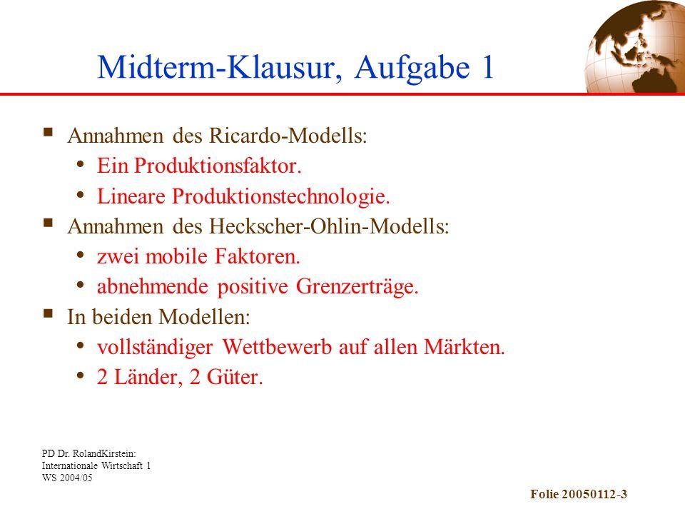 Midterm-Klausur, Aufgabe 1