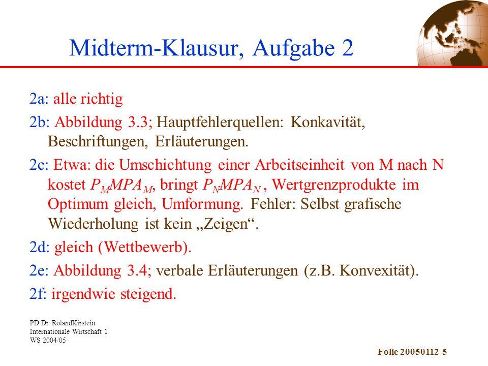 Midterm-Klausur, Aufgabe 2