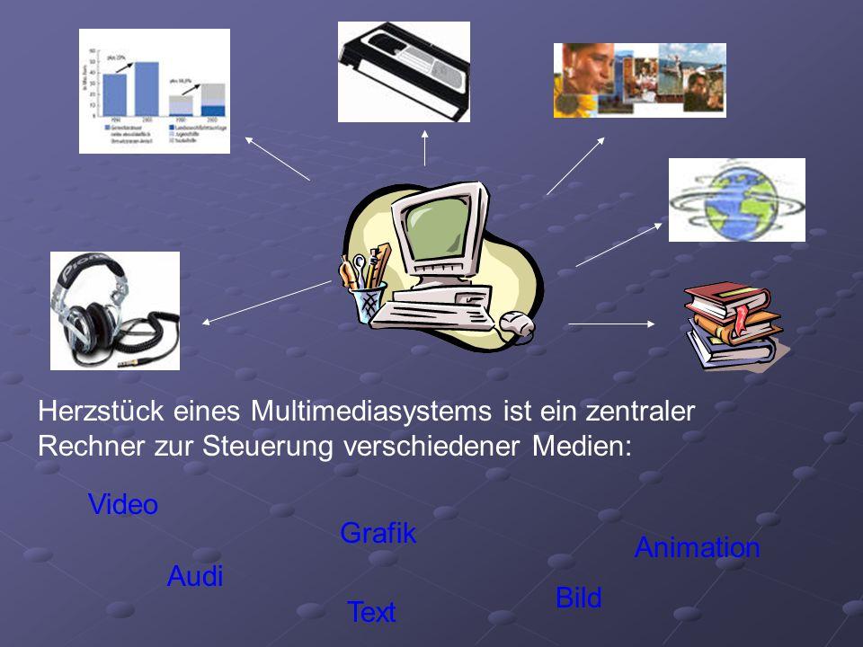 Herzstück eines Multimediasystems ist ein zentraler Rechner zur Steuerung verschiedener Medien:
