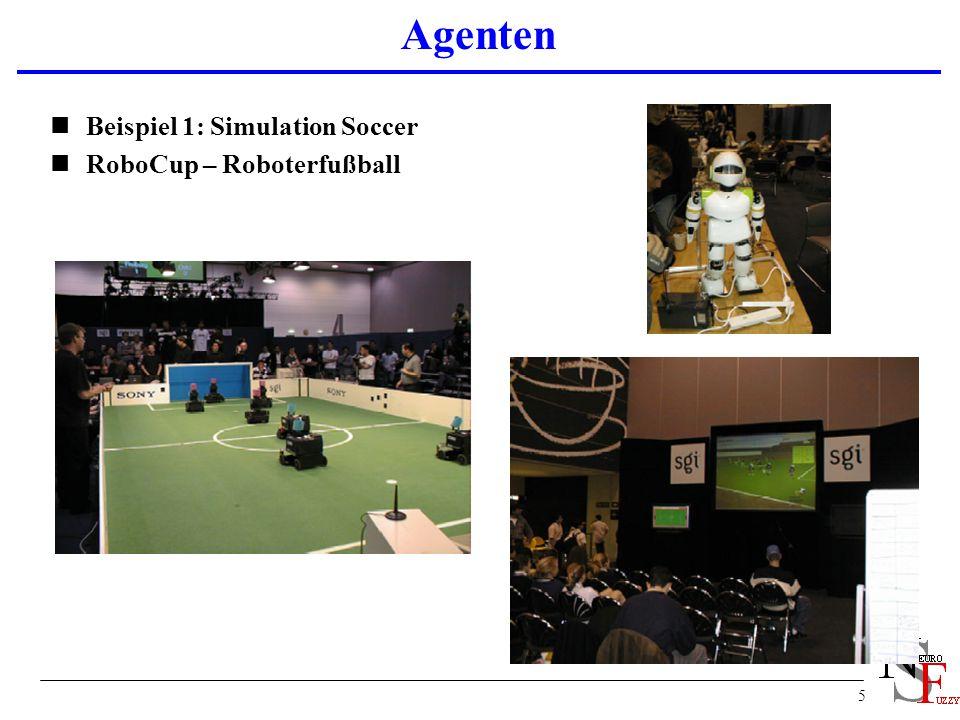 Agenten Beispiel 1: Simulation Soccer RoboCup – Roboterfußball