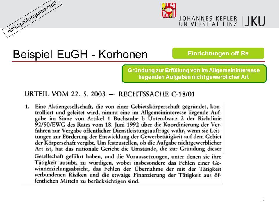 Beispiel EuGH - Korhonen