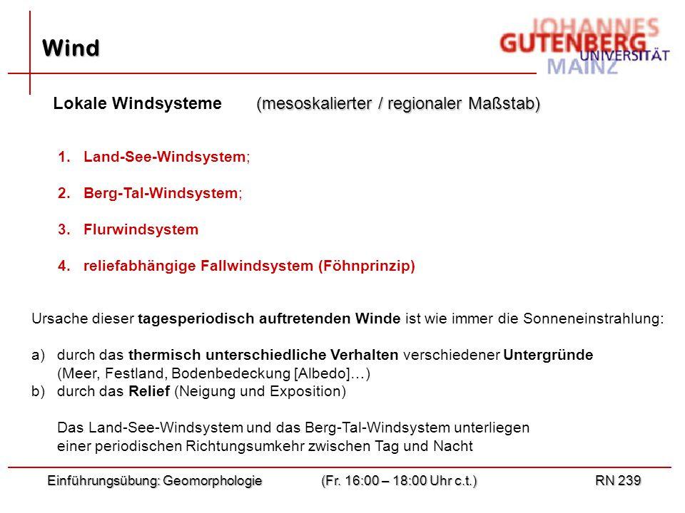 Wind Lokale Windsysteme (mesoskalierter / regionaler Maßstab)