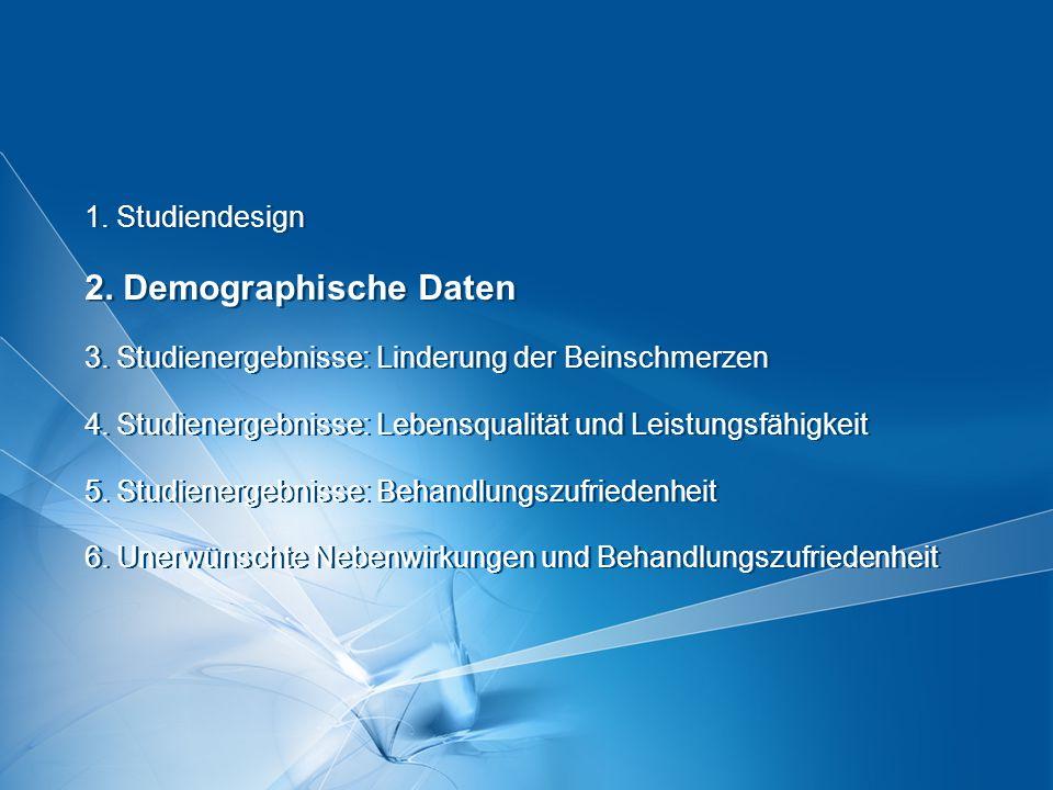 Studiendesign 2. Demographische Daten 3