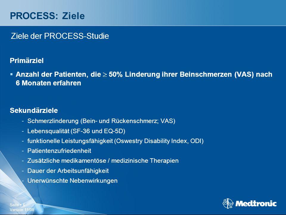 PROCESS: Ziele Ziele der PROCESS-Studie Primärziel