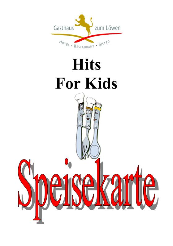 Hits For Kids Speisekarte