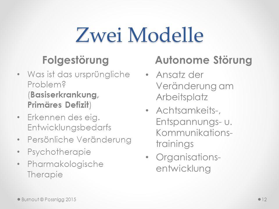 Zwei Modelle Folgestörung Autonome Störung