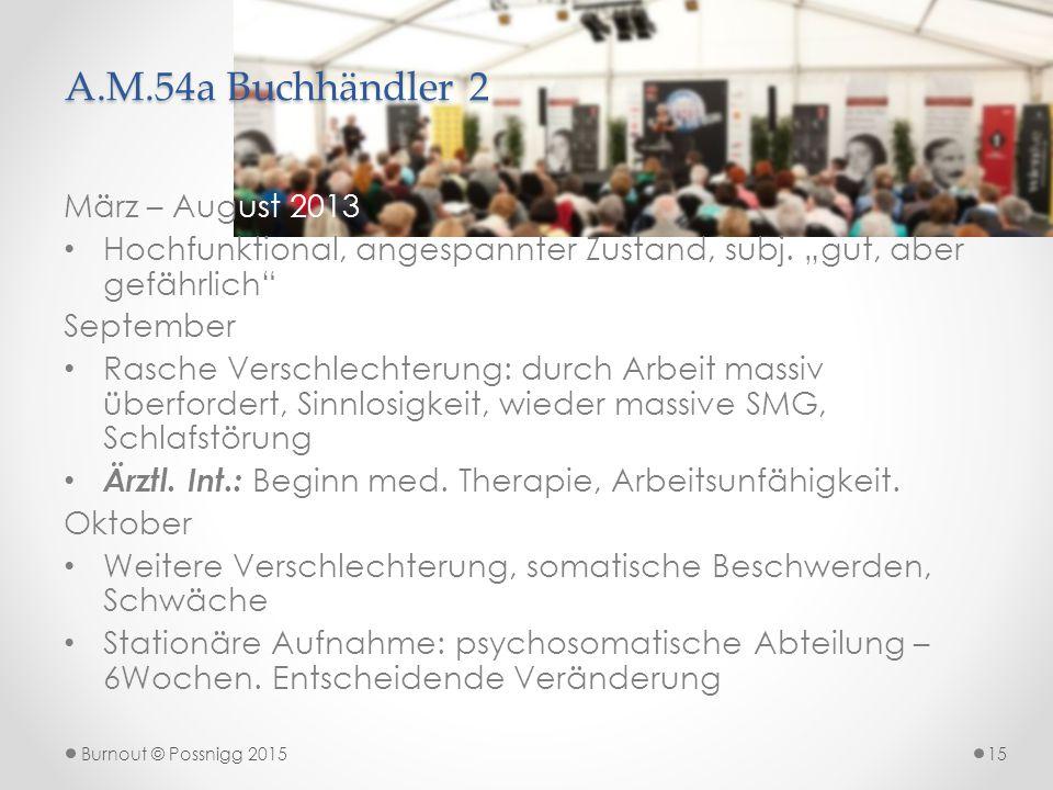 A.M.54a Buchhändler 2 März – August 2013