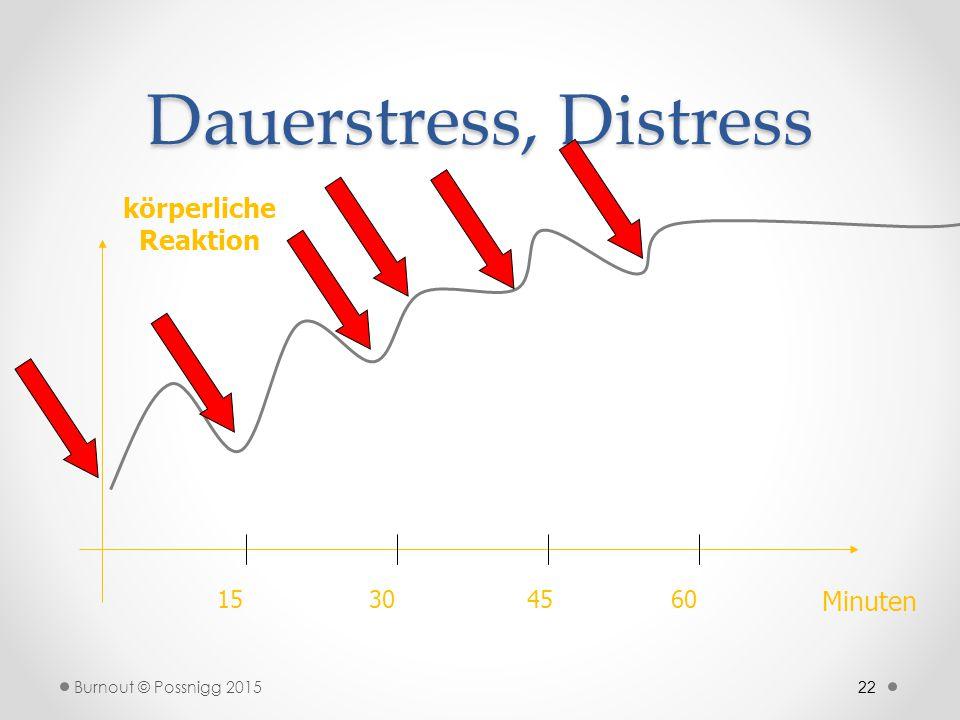 Dauerstress, Distress körperliche Reaktion Minuten 15 30 45 60