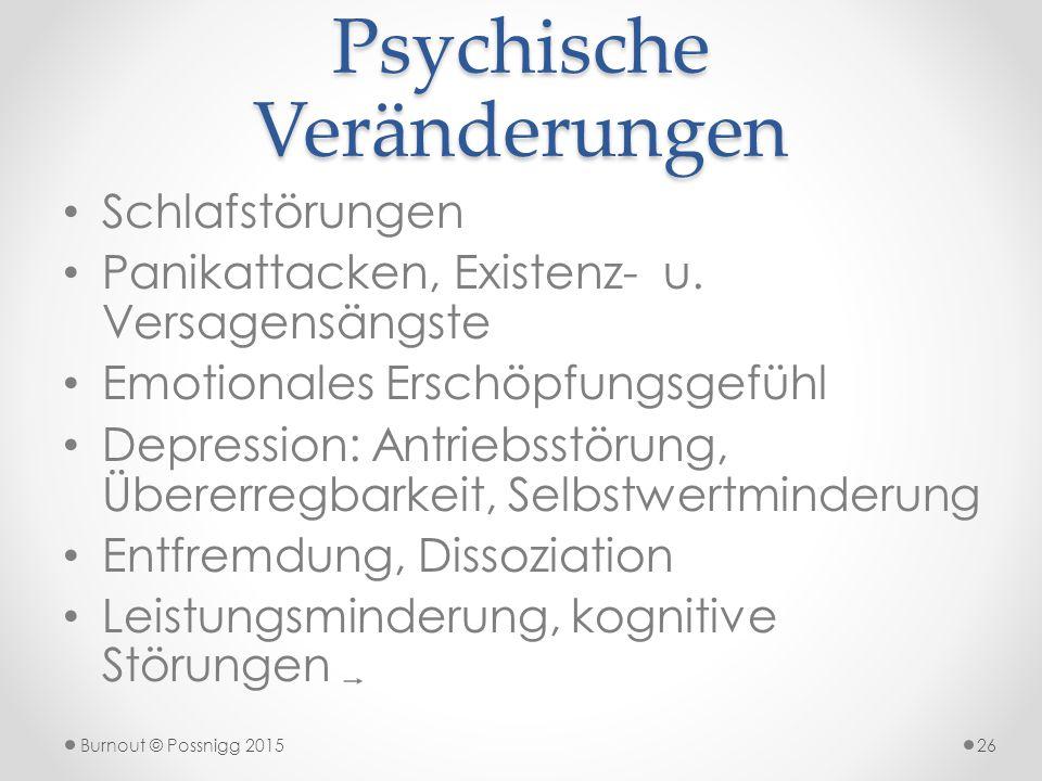 Psychische Veränderungen