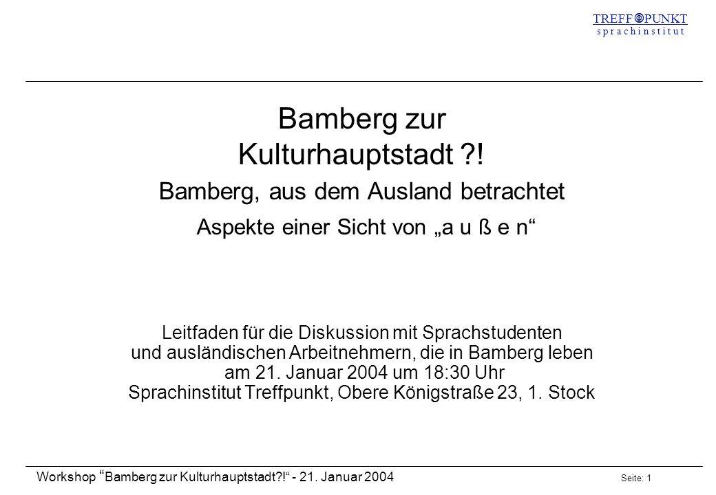 Bamberg zur Kulturhauptstadt