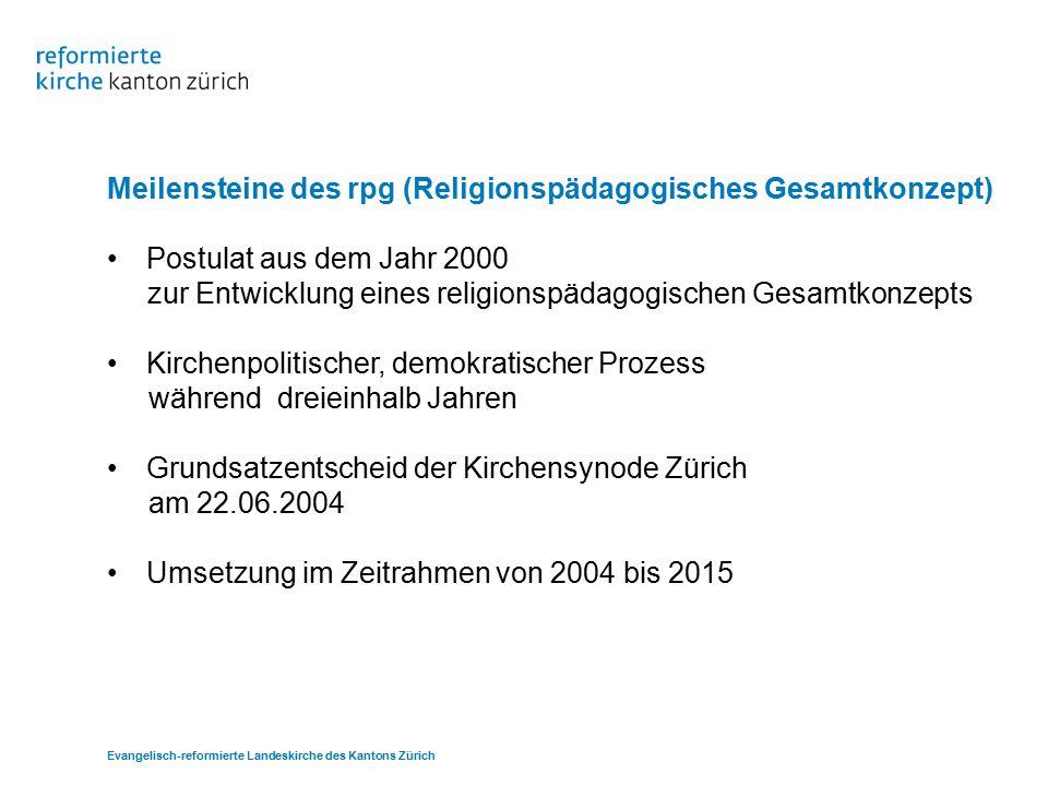 Meilensteine des rpg (Religionspädagogisches Gesamtkonzept)