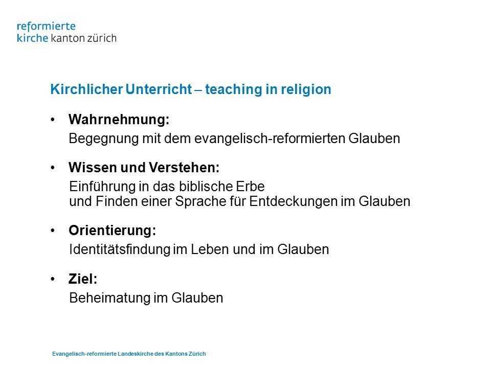 Kirchlicher Unterricht – teaching in religion Wahrnehmung: