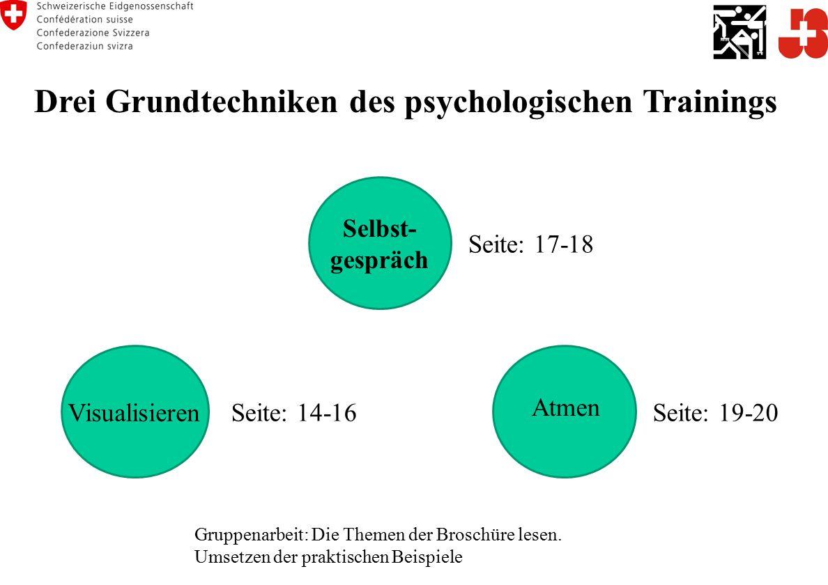 Drei Grundtechniken des psychologischen Trainings