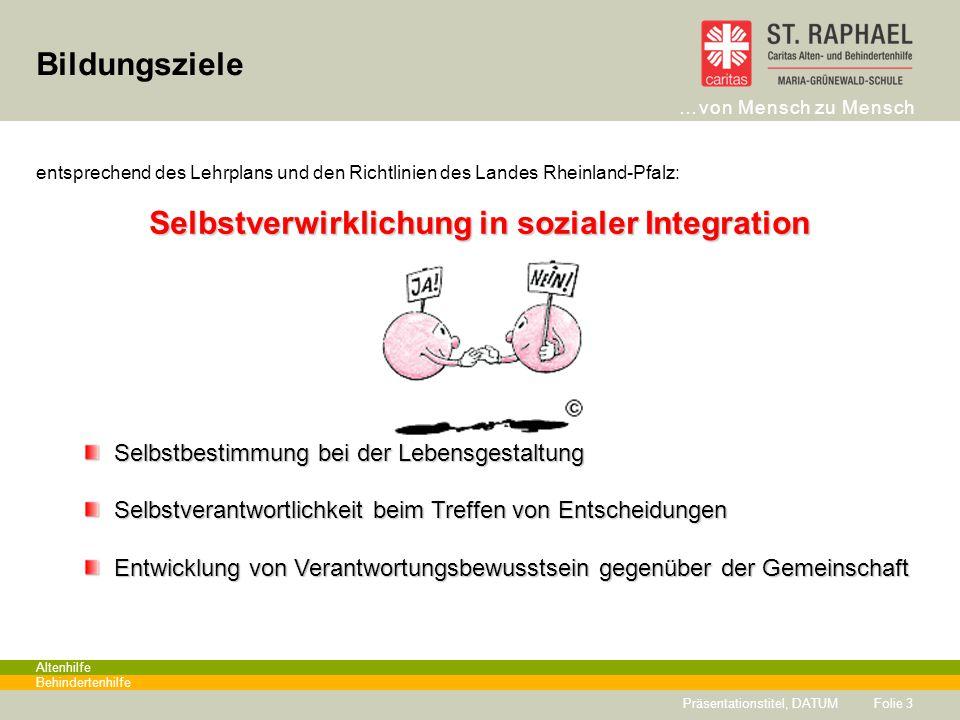 Selbstverwirklichung in sozialer Integration