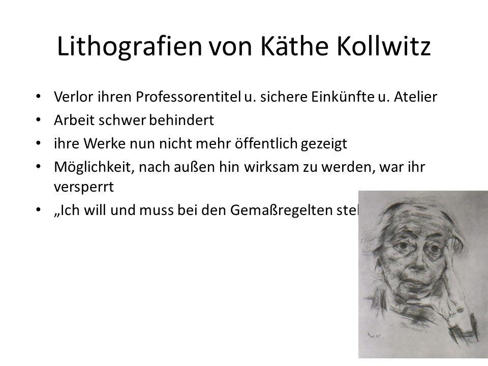 Lithografien von Käthe Kollwitz