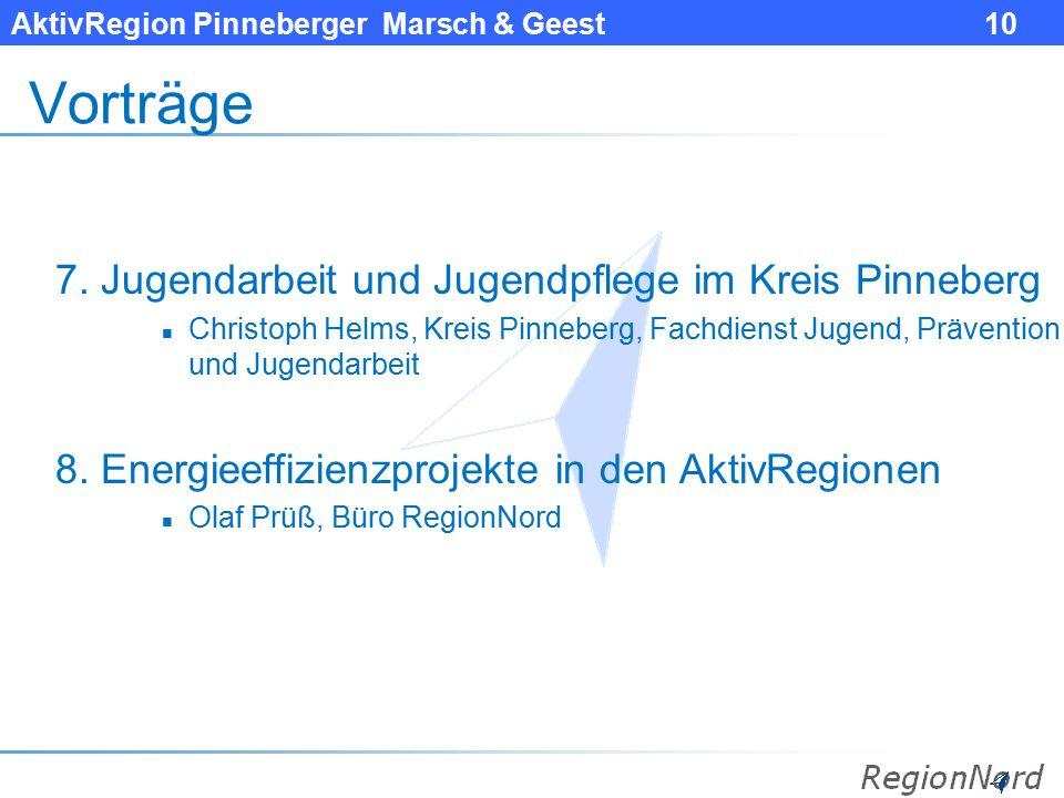 Vorträge 7. Jugendarbeit und Jugendpflege im Kreis Pinneberg