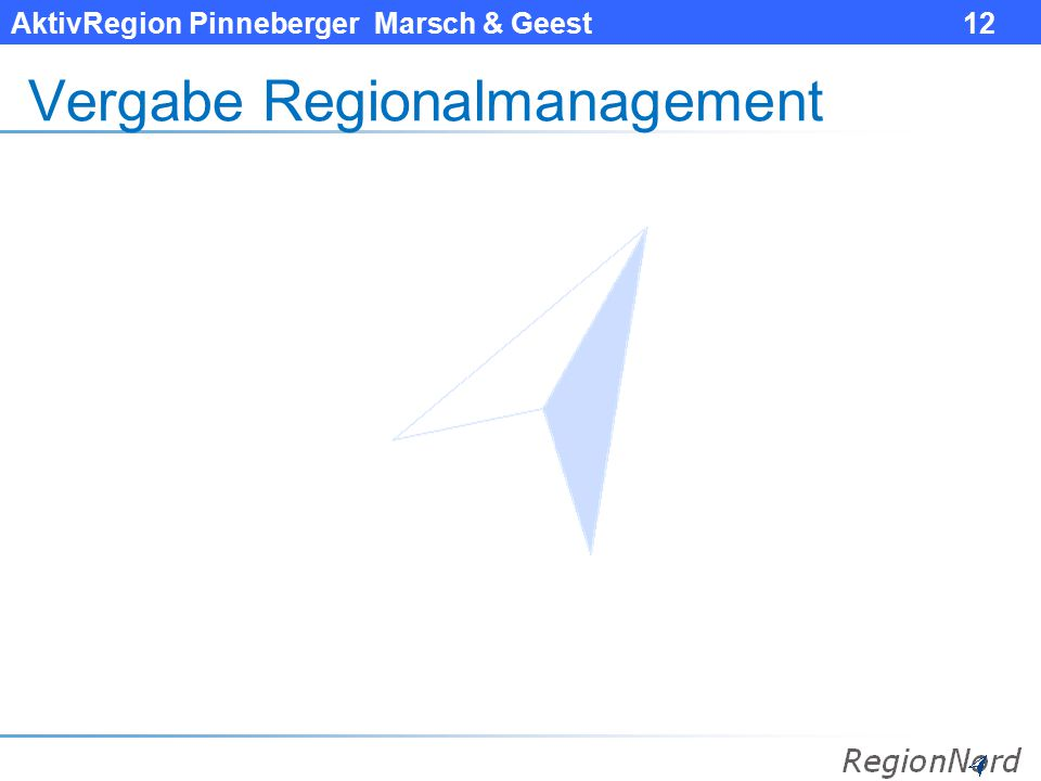 Vergabe Regionalmanagement