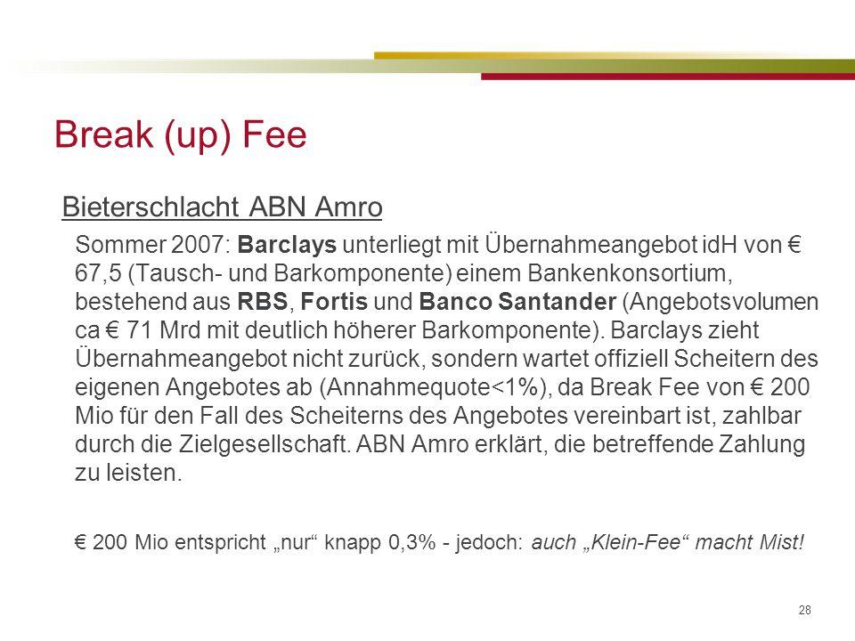 Break (up) Fee Bieterschlacht ABN Amro