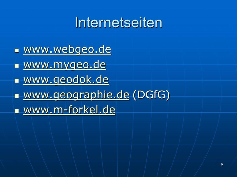Internetseiten www.webgeo.de www.mygeo.de www.geodok.de