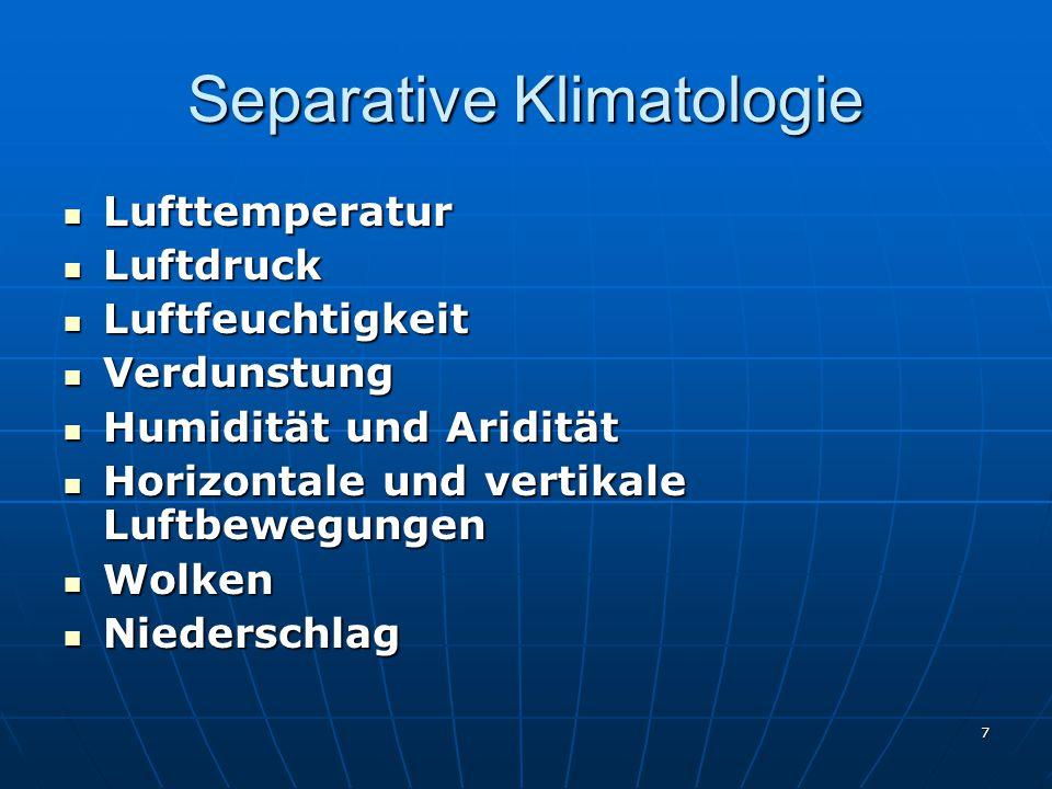 Separative Klimatologie