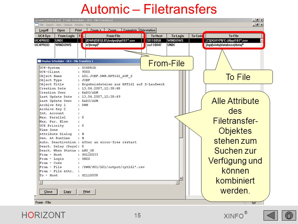 Automic – Filetransfers