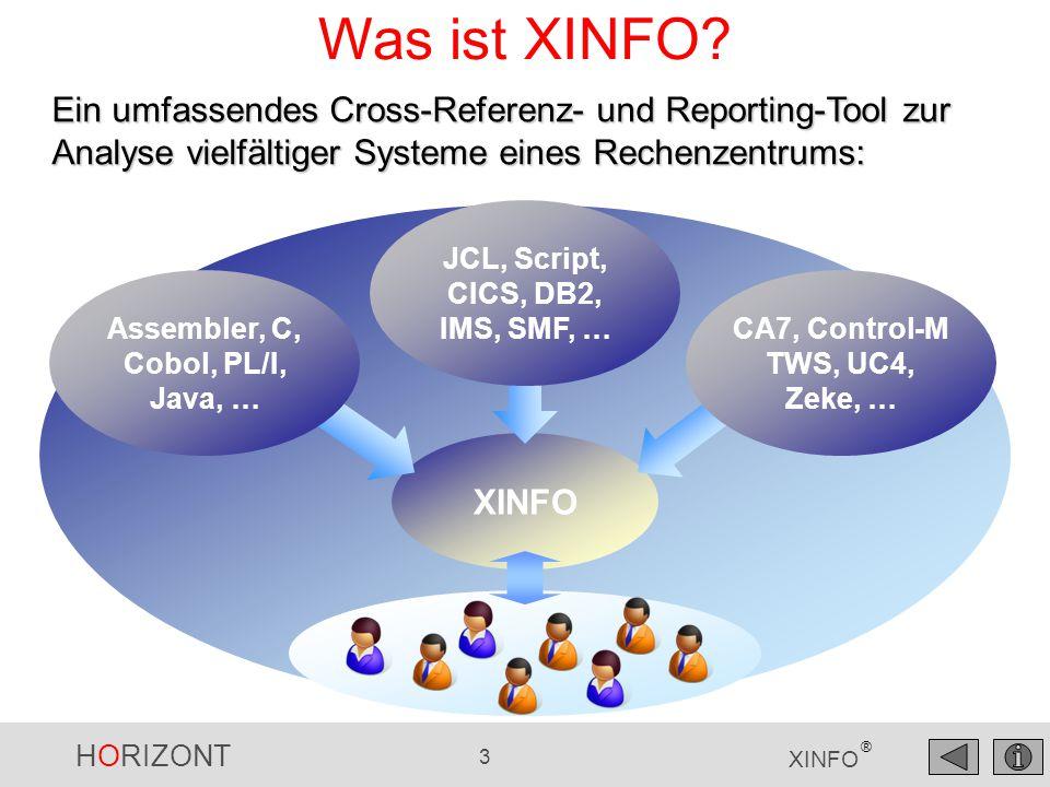 Was ist XINFO Ein umfassendes Cross-Referenz- und Reporting-Tool zur Analyse vielfältiger Systeme eines Rechenzentrums:
