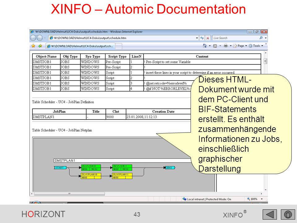 XINFO – Automic Documentation