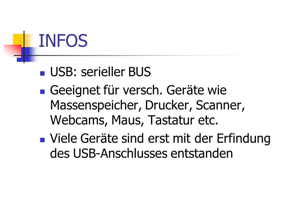 INFOS USB: serieller BUS