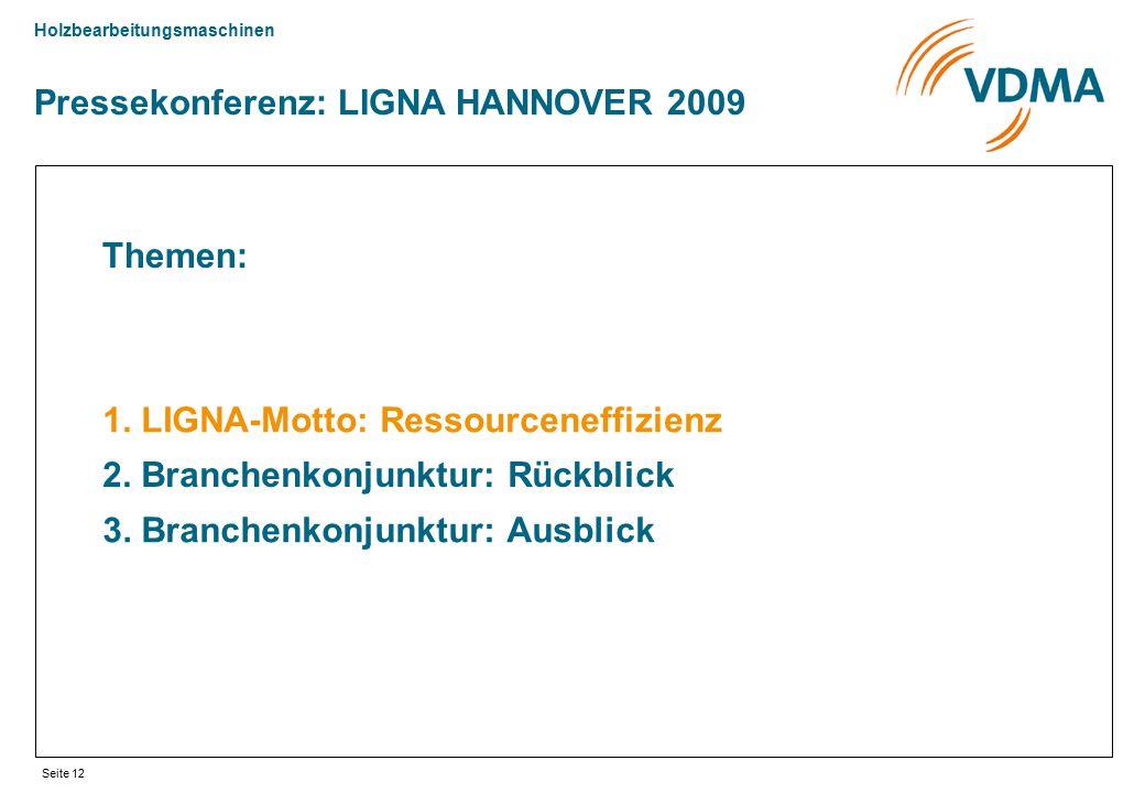 Pressekonferenz: LIGNA HANNOVER 2009