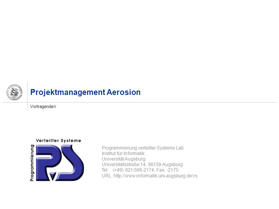 Projektmanagement Aerosion