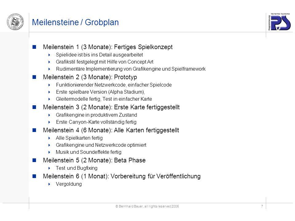 Meilensteine / Grobplan